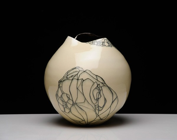 Title: Give and Take VII, 2012. Size: 38x28x28cm. Medium: Thrown and Altered Porcelain