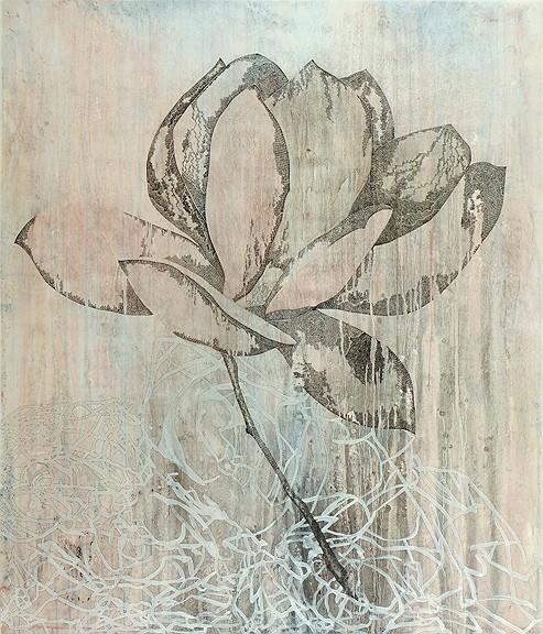 Title: Hiatus III, 2011. Size: 140 x 120cm. Medium: watercolour, drawing on board