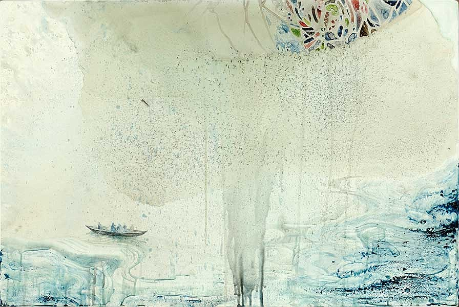 Title: Make it Right, 2012. Size: 61 x 92cm. Medium: Watercolour, drawing, encaustic on board