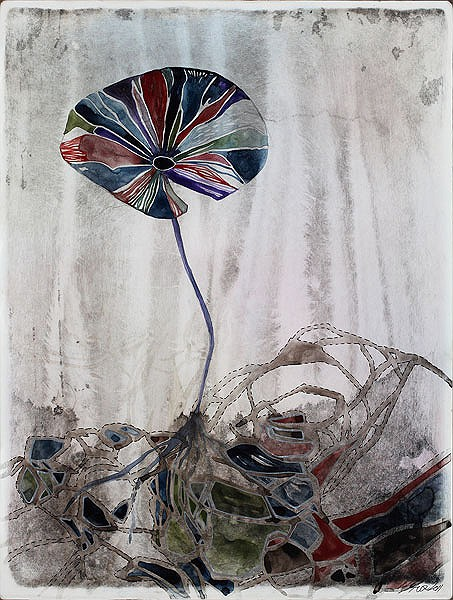 Title: Not Enough II, 2012. Size: 30.5 x 23cm. Medium: Watercolour, drawing on board