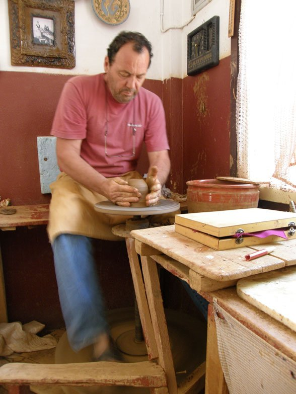 famous local potter in Skopelos