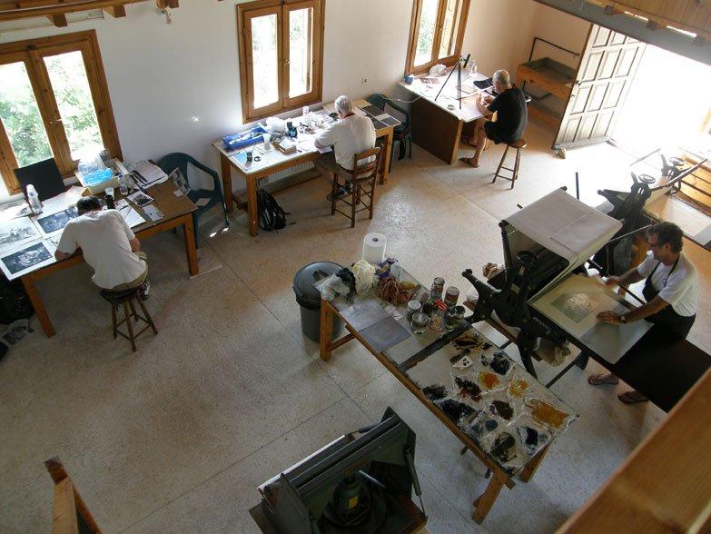 studio shot - artists hard at work!