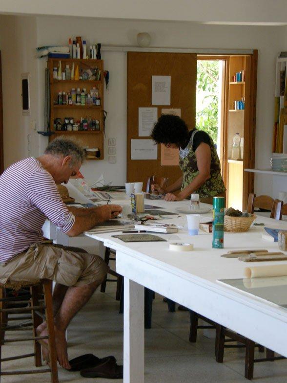 Adam Rish and Judy Watson drawing