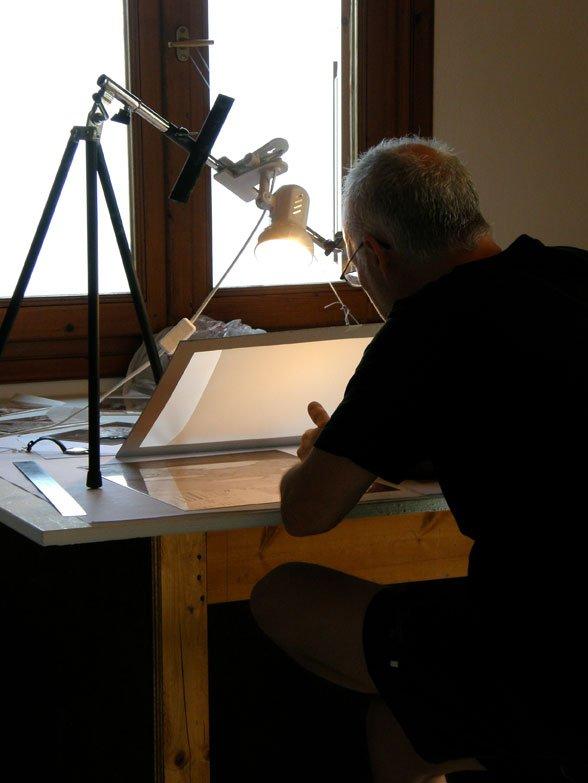 Mikael Kihlman working on his plate