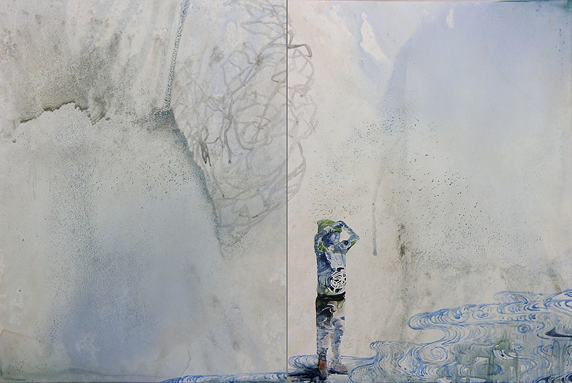 Title: Prospect, 2011. Size: 61 x 92cm. Medium: watercolour, drawing on board