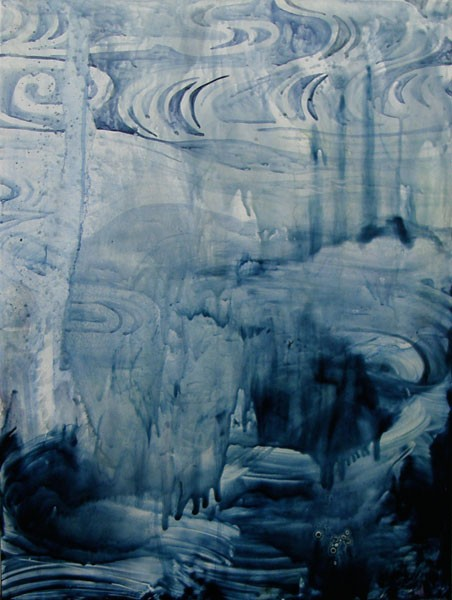 Title: Tempest - fade into you I, 2011. Size: 61 x 46cm. Medium: watercolour, encaustic wax on board