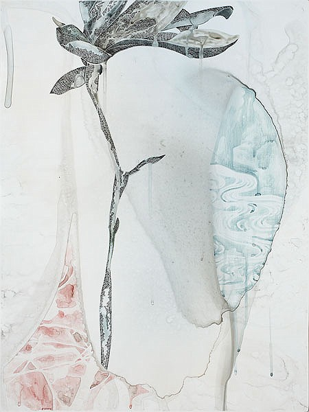 Title: Too Deep II, 2011. Size: 61 x 46 cm. Medium: Watercolour, drawing on board