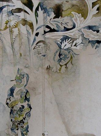 Dream study', 2010  medium: watercolour on board size: 30.2 x 22.5 cm