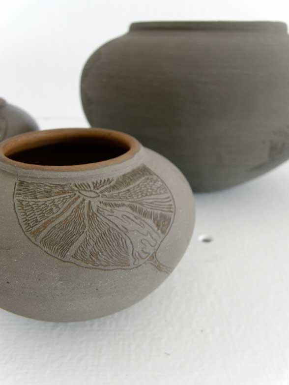 details of the finished pots