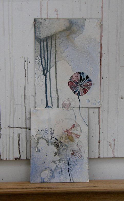 Sea study', 2010 medium: watercolour on board size: 55.7 x 24.5 cm