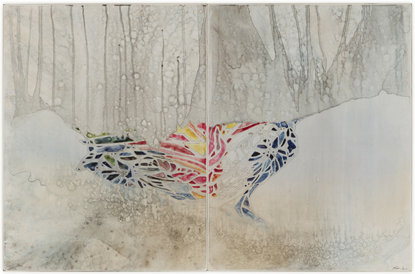 Title: I don't want to get over you, 2013, Medium: Watercolour, drawing on board, Size: 60 x 91cm