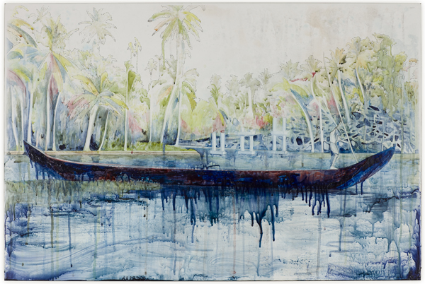Title: Stillness is the Move II, 2013, Medium: Watercolour, drawing, encaustic wax on board, Size: 62 x 91cm