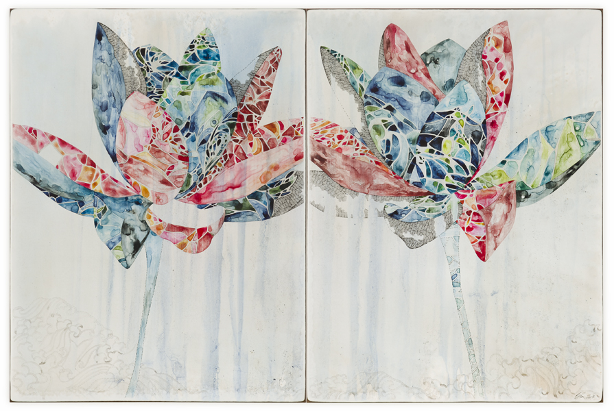 Title: And Then So Clear IV, 2013, Medium: Watercolour, drawing on board, Size: 62 x 92 cm