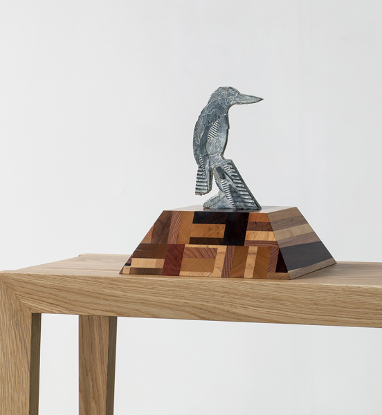 Title: Remedy V, 2014, Medium: bronze with recycled wood stand, size: 21x11x3cm, edition of 10 foundry: Coates and Wood
