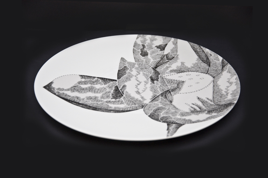 12 Inch Dinner plate design. Limited edition of 100 (set of 4)