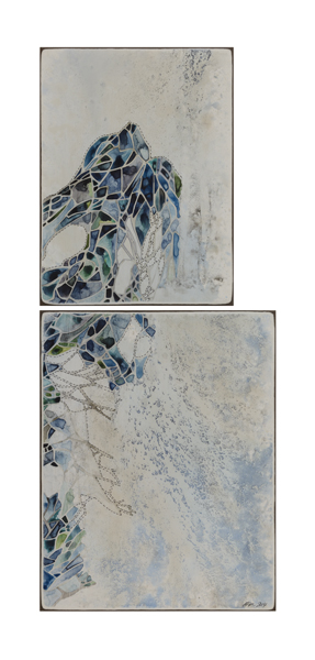 Title: Absence, 2014 Medium: watercolour, drawing, on board, (2 boards) Size: 66 x 28cm