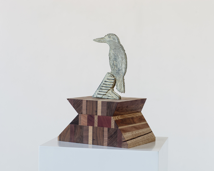 Title: Remedy V, Medium: Bronze with recycled wood stand, Size: 22 x 12 x 3 cm Edition: 10 Foundry: Coates and Wood, Melbourne. Stands made in collaboration with Chapman and Bailey, Melbourne.