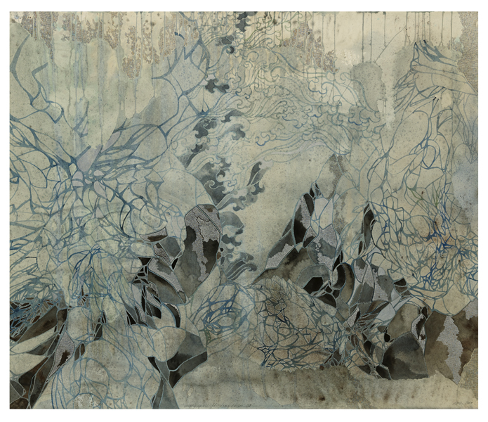 Title: Empty spaces/finding form III, 2015, Medium: watercolour, drawing, on paper, Size: 122x145cm