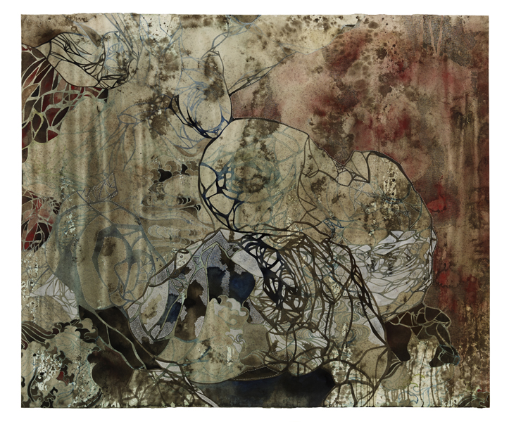 Title: Empty spaces/finding form I, 2015, Medium: watercolour, drawing, on paper, Size: 122x145cm