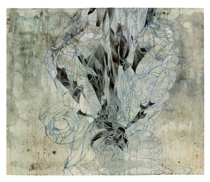 Title: Empty spaces/finding form II, 2015, Medium: watercolour, drawing, on paper, Size: 122x145cm