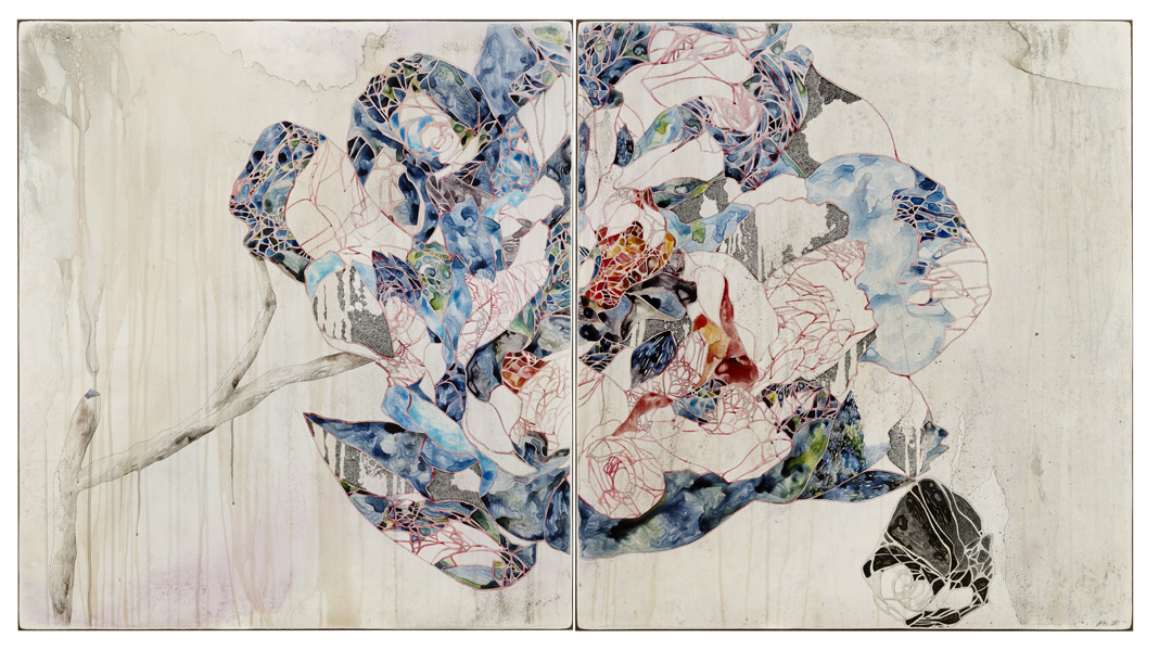 Title: Hold, 2015, Medium: watercolour, drawing, ink on board, Size: 110x200cm