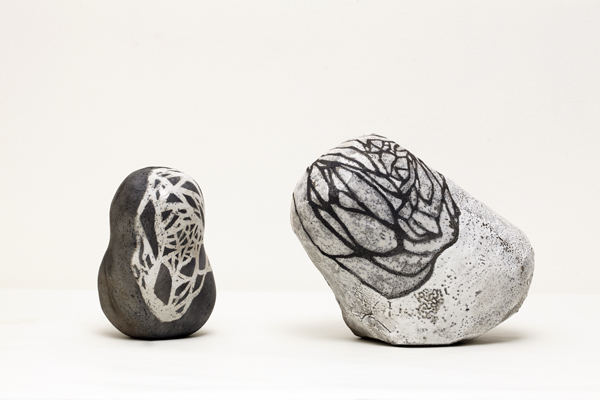 Title: Balancing the world IV, 2015, Medium: hand built raku fired ceramics, Size: 30x50x17cm, Artists: Belinda Fox and Jason Lim