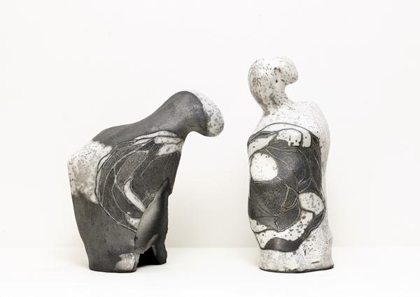 Title: Balancing the world V, 2015, Medium: hand built raku fired ceramics, Size: 47x60x30cm, Artists: Belinda Fox and Jason Lim