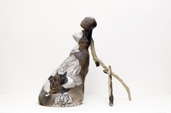 Title: Balancing the world IX, 2015, Medium: hand built raku and pit fired ceramics, Size: 80x70x40cm, Artists: Belinda Fox and Jason Lim