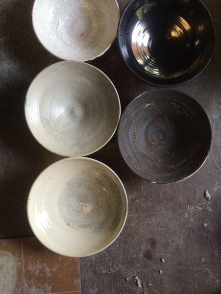 Testing new glazes