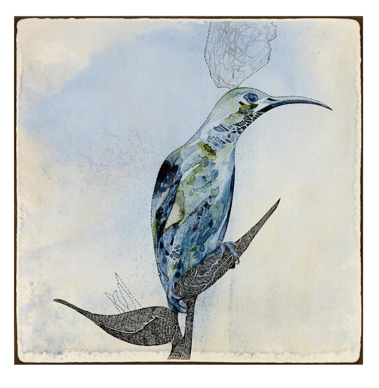 Title: 'Focus II', 2015, Medium: watercolour, drawing on board, Size: 40.5x40.5cm