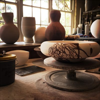 Making ceramics in French's Buninyong studio
