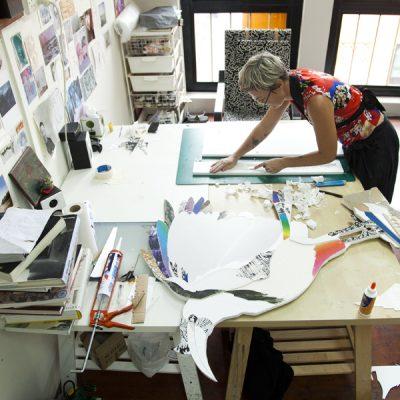 Making paper model in Singapore studio