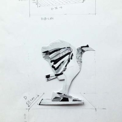 Designing heavy duty plinth for the 150kg sculpture to be displayed safely.