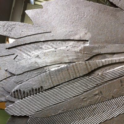 Detail of steel before rust stage