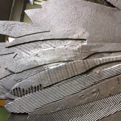 Detail of steel before rust stage