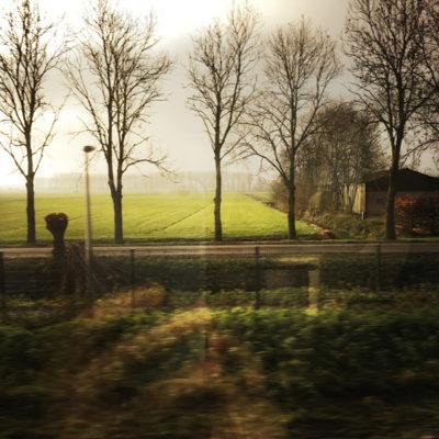 on the train to Leerdam