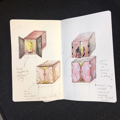 Earliest sketches of cabinet ideas